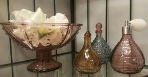 Vidros do marrom de Dekorativ Fotos de Stock Royalty Free