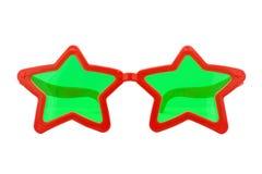 Vidros do partido, forma da estrela imagem de stock
