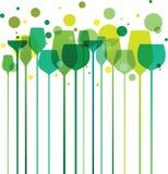 Vidros do Partido Verde Imagem de Stock Royalty Free