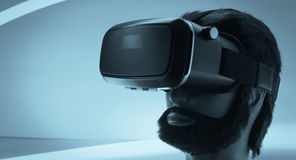 Vidros do preto da realidade virtual Imagens de Stock