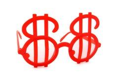 Vidros do sinal de dólar Fotografia de Stock