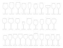 Vidros do vinho Foto de Stock Royalty Free