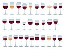 Vidros do vinho Fotografia de Stock Royalty Free