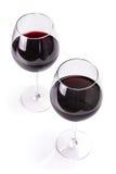 Vidros do vinho tinto Fotografia de Stock