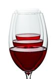 Vidros do vinho vermelho Fotografia de Stock