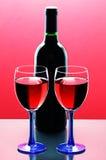 Vidros do vinho vermelho Imagem de Stock Royalty Free