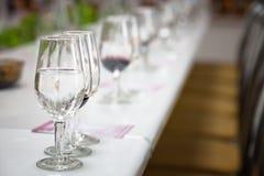Vidros do vinho vermelho e branco Imagem de Stock