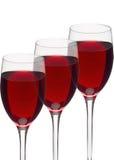 Vidros do vinho vermelho isolados Fotos de Stock Royalty Free