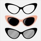 Vidros dos olhos de gato ajustados ilustração stock