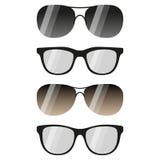 Vidros e óculos de sol ajustados Imagem de Stock Royalty Free