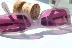 Vidros e champanhe Foto de Stock