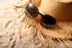 Vidros e chapéu Fotografia de Stock Royalty Free