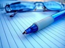 Vidros e lápis Fotografia de Stock