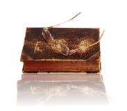 Vidros e livro Imagem de Stock