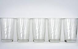 Vidros em um fundo branco Imagem de Stock Royalty Free