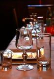 Vidros em um restaurante Imagem de Stock