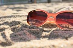 Vidros na praia Imagens de Stock