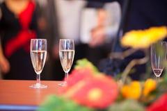 Vidros no banquete Imagens de Stock Royalty Free