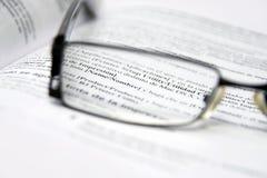 Vidros no dicionário Imagens de Stock