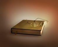 Vidros no livro Imagem de Stock