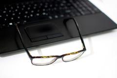 Vidros no portátil Fotografia de Stock