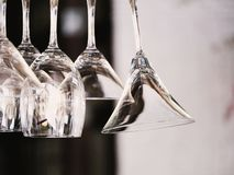 Vidros no restaurante imagem de stock