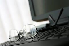 Vidros no teclado do portátil Imagem de Stock