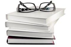 Vidros nos livros Imagem de Stock Royalty Free