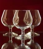 Vidros para o conhaque Imagens de Stock Royalty Free