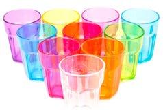 Vidros plásticos foto de stock royalty free