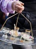 Vidros vazios do chá imagens de stock