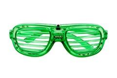 Vidros verdes para o partido Fotografia de Stock