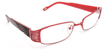 Vidros vermelhos do olho Imagem de Stock