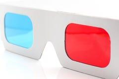 vidros vermelhos e cianos de 3D Fotografia de Stock Royalty Free
