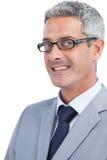 Vidros vestindo do homem de negócios considerável Foto de Stock Royalty Free