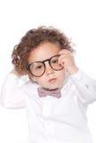 Vidros vestindo do olho do bebê bonito do close up Imagem de Stock Royalty Free