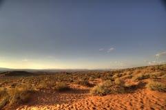 Vidsträckt öken på amerikanskt södra västra arkivfoto
