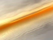 Vidsträcktheten av havet - på skymning Vektor Illustrationer