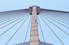 Vidyasagar Setu. Low angle shot of Second Hoogly Bridge or Vidyasagar setu at Kolkata.India Stock Image