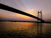 Vidyasagar Setu Second Hooghly Bridge-Kolkata stock images