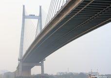 Vidyasagar setu. Or Second Hoogly Bridge at Kolkata,India.Longest cable stayed bridge in India Stock Image