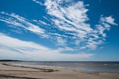 Vidzeme kust på Ainazi Royaltyfri Fotografi