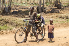 Vie à la campagne au Burundi Images stock