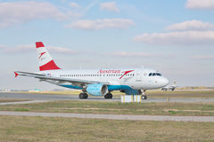 Vie aeree austriache Airbus A320 Immagine Stock Libera da Diritti