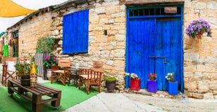 Vie affascinanti con la barra sveglia nell'isola del Cipro Immagine Stock