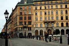 Vie centrali di Stoccolma, Svezia Immagine Stock