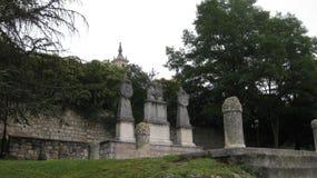 Vie: centro storico di Burgos, Spagna immagine stock