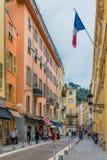 Vie in Città Vecchia Nizza della Francia Fotografia Stock Libera da Diritti