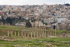 Vie Colonnaded in Jerash Immagine Stock Libera da Diritti