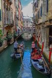 Vie dans la rue à Venise images stock